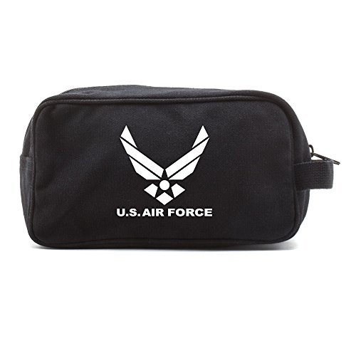 (US Air Force Canvas Shower Kit Travel Toiletry Bag Case in Black &)