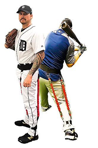 - VeloPRO Velocity Load Harness | Resistance Training System for Baseball Players | Pitchers & Hitters | Two Bungee Cords, One Foot Strap & Waist Belt | 4-in-1 | Height: Up to 5'3