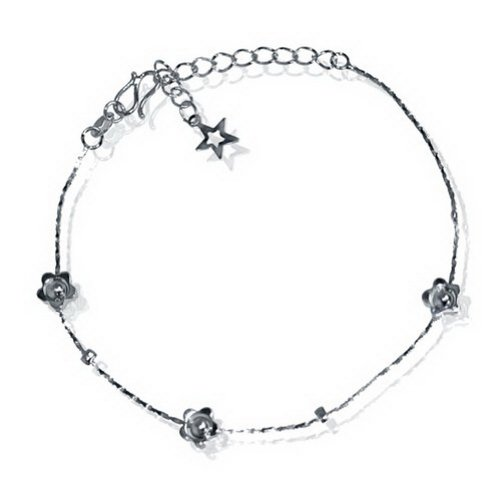 JewelryVolt Brass Bracelet/Anklet with flower design