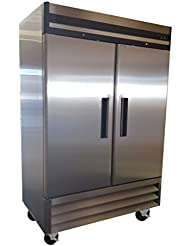 Stainless Steel Commercial 49cf Reach In Refrigerator Cooler