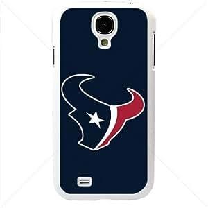 NFL American football Houston Texans Fans Samsung Galaxy S4 SIV I9500 TPU Soft Black or White case (White)