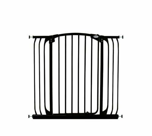 Bindaboo Hallway Pet Gate, Swing Closed, Black, Extra-Tall ()