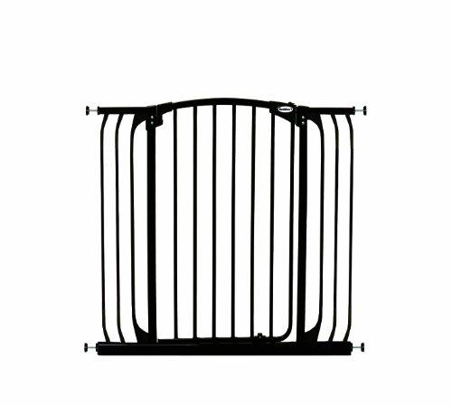 Bindaboo Hallway Pet Gate, Swing Closed, Black, Extra-Tall