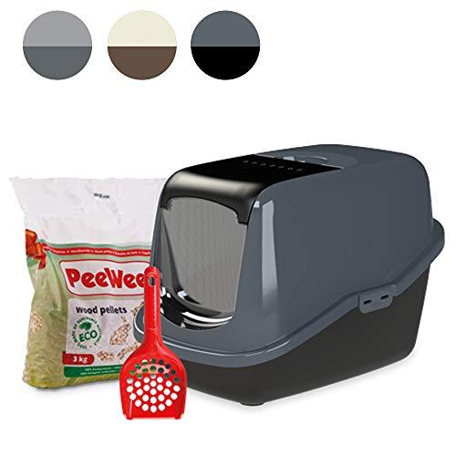 PeeWee EcoHus – Katzentoilette – Starter-Paket Schwarz