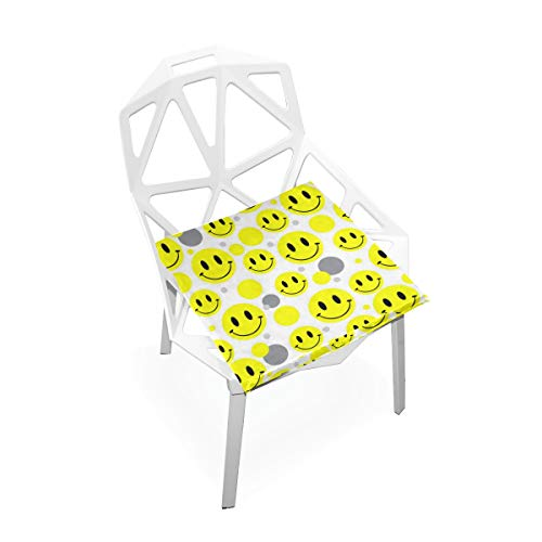 Pingshoes Seat Cushion Cute Smiley Faces Chair Cushion Offices Butt Chair Pads Square Wheelchairs Mat for Outdoors