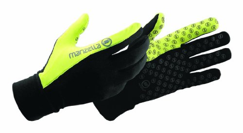 Manzella Windproof Gloves (Manzella Women's Vapor Glove (Black/Yellow,)