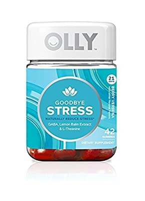 OLLY Goodbye Stress Gummy Supplements, Berry Verbena