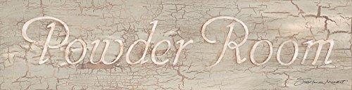 Powder Room Sign 20x5 Bathroom Poster Rustic Art Print (Antique Powder Room Sign)