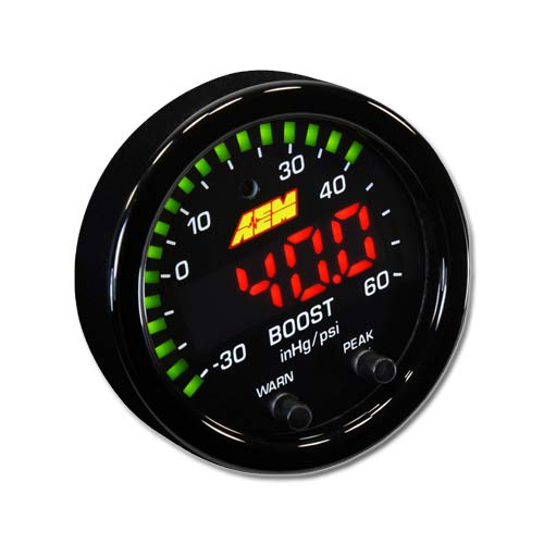 - AEM 30-0308 X-Series Boost Pressure Gauge
