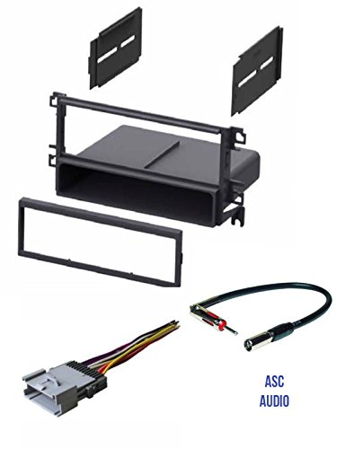 - ASC Car Stereo Radio Install Dash Kit, Wire Harness, and Antenna Adapter for installing an Aftermarket Single Din Radio for 2003 2004 2005 2006 Hyundai Santa Fe with Factory Monsoon Amp System