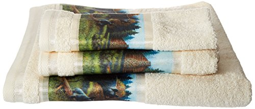 Avanti Linens Black Bear   3-Piece Multi-colored Printed Towel Set Ivory - Bear Towel Set