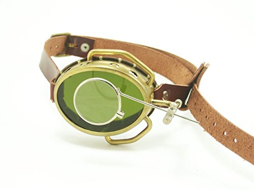 Steampunk Monocle Real Brass with Leather (Sunglass Monocle)