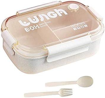 1000ml HIQE-FL Lunch Box,Kids Bento Box con 3 Scomparti,Scatola Pranzo,Porta Pranzo Contenitore per Bambini o Adulti