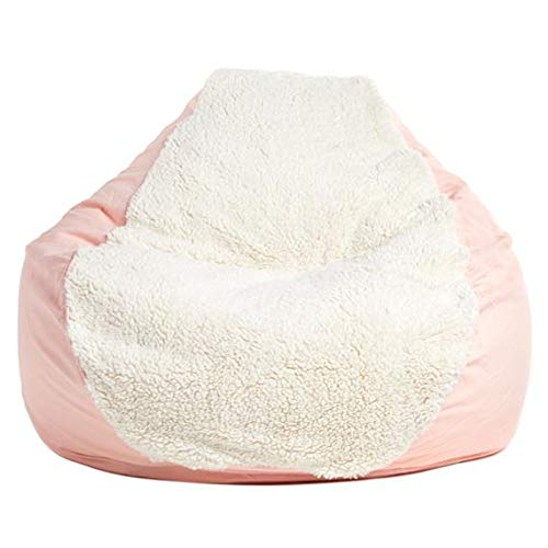Beanbag - Adult PEAR, Ivory Sherpa/Light Pink Twill BEANBAG