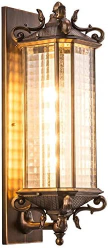 BELIALL テレビの 背景壁 照明 屋外の 壁 ライト ドア 防水 外壁 テラス ガーデン ライト 屋外 廊下ライト (Size : L)