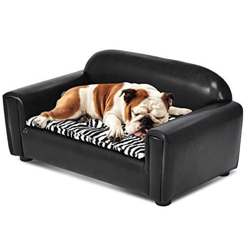 Giantex Pet Sofa PU Lounge Sofa Bed Comfortable Puppy Cat Sl