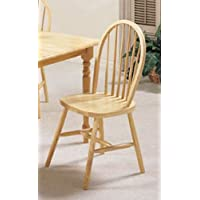 ACME 02613N Set of 4 Farmhouse Spindle Side Chair, Natural Finish