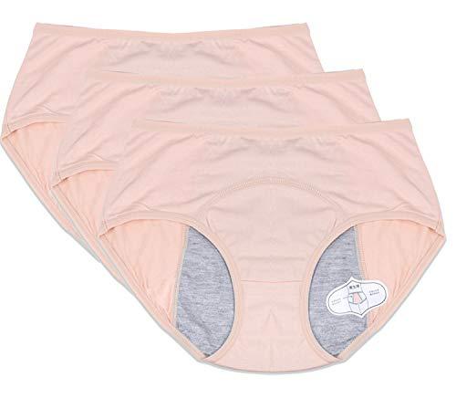 Funcy Women Menstrual Period Briefs Leakproof Panties Postpartum Bleeding Underwear(Pack of 3 (XXL, 3SR) (Best Female Version Of Hallelujah)