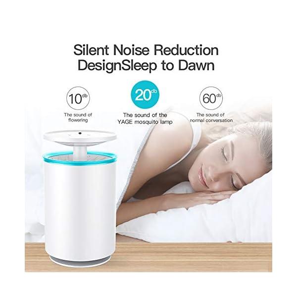 Lampada Anti Zanzara, Muto Mosquito Killer Lamp Fotocatalitico LED Fly Kille Luce Notturna UV Mosquito Killer Nessuna… 3 spesavip