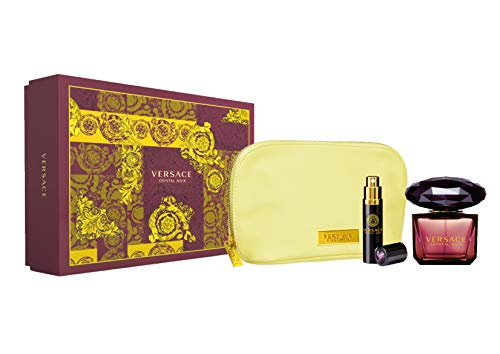 Versace Crystal Noir 3 Piece Gift Set for ()