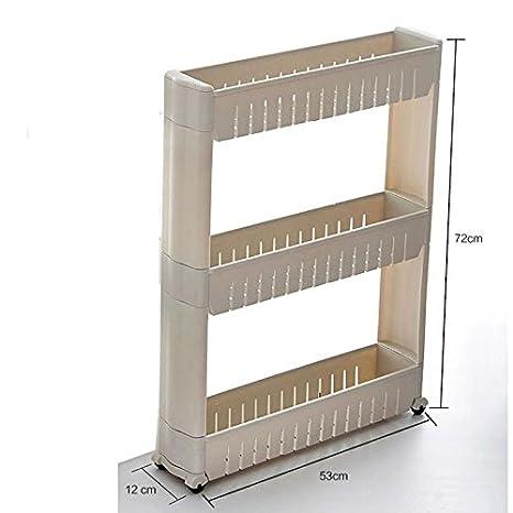 Miniinthebox armario organizador de especias y apilable organizador cocina plástico soporte y accesorio de 3 niveles: Amazon.es: Hogar