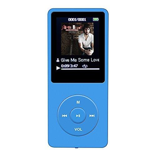 """318 opinioni per AGPTek A02 IL lettore MP3 8 GB schermo 1,8"""" con Radio e registratore, Il tempo"""