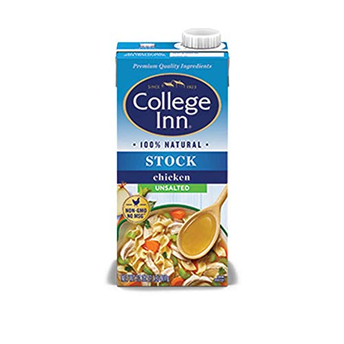 College Inn Unsalted Chicken Stock, 32 fl Ounce (Pack of 12)