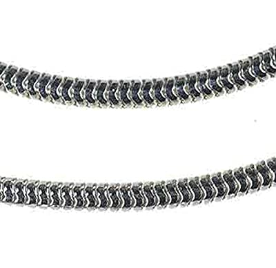 Sterling Silver Snake Chain Rhodium 1.5mm 18 Inch from ugems