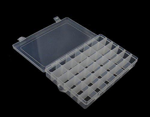 Perlenbox 5XL gro/ßer Sortierbox 28cm 36 F/ächer Bastelzubeh/ör Sortierkasten Dosen B26