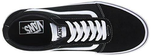 Suede Canvas Black Ward Herren Schwarz Vans Canvas Sneaker C4r White OXU5qw
