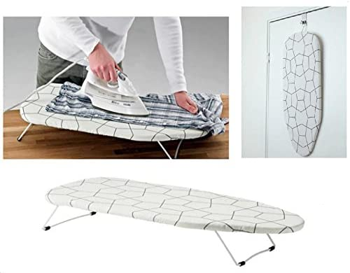 HOMION FUNKY FOLDABLE PORTABLE COMPACT TABLE TOP MINI IRONING LAUNDRY BOARD WITH COVER