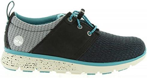 TIMBERLAND A12GX blaue Turnschuhe Oxford-Schuhe Babys Schneeregen Jugend Schnürsenkel