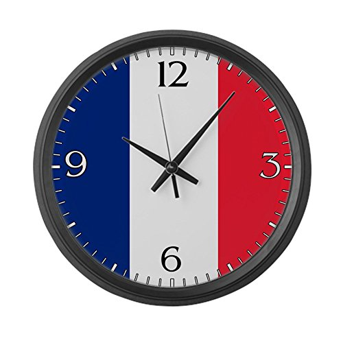 Large Wall Clock Flag of France