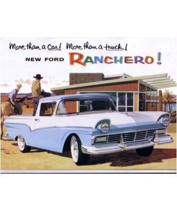 1957 FORD RANCHERO Sales Brochure Literature Book (Brochure Ranchero)