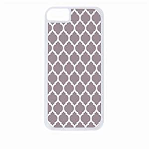Grey Lattice Pattern- Hard White Plastic Snap - On Case-Apple Iphone 6 Only - Great Quality!