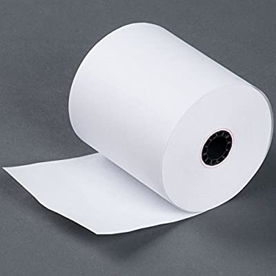 "3"" 165' FT 1 Ply Bond Paper (50 Rolls) Kitchen Printer Paper Made in USA from BuyRegisterRolls"