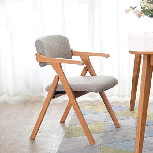 Chaise d'ordinateur Chaise de Salle à Manger Pliante avec accoudoirs Dossier en Bois avec Rembourrage PENGJIE