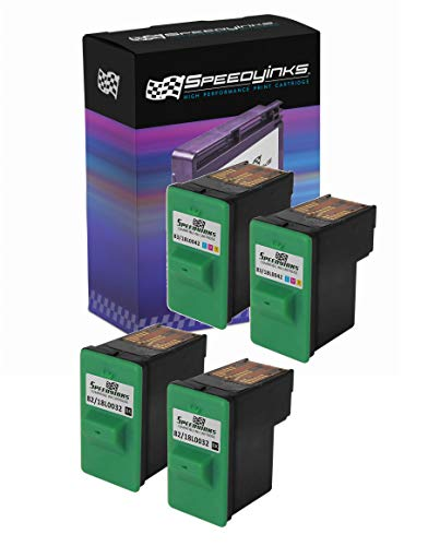 Pack Z55 (Speedy Inks - Remanufactured Lexmark 18L0032#82 & 18L0042#83 Set of Ink Cartridges 2 Black 2 Color for use in X5150, X6150, X6170, X6180, Z55, Z55se, Z65, Z65n, Z65p)