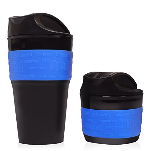Blue, Collapsible Travel Cup, Mug Silicone Travel Mug, BPA Free. An Excellent Gift Idea