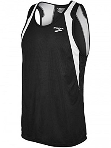 (Brooks Athletic Sprinters Sleeveless Top - Black/White -)