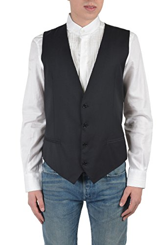 (Dolce & Gabbana Men's Gray Wool Vest Size US 46 IT)