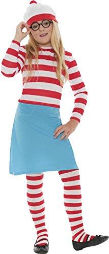 Where's Wally Wenda Child Costume Large - Where's Wally Wenda Costume Large