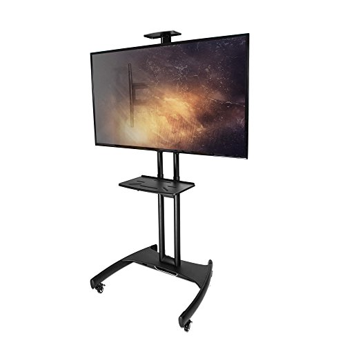 Kanto MTM65PL-S Mobile TV Mount with Adjustable Steel Tray for 37-inch to 65-inch TVs