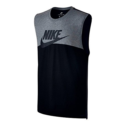 Nike Mens Tri-Blend HBR Futura Tank Shirt Carbon/Anthracite/Black 847509-091 Size Medium
