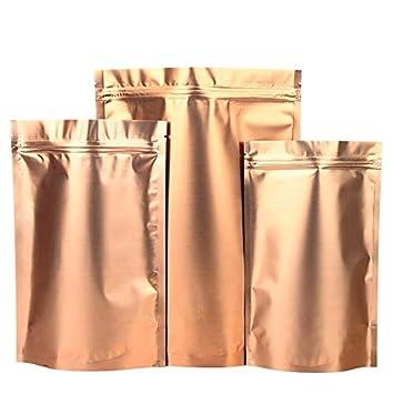 100 unids Golden Stand up Zip Lock Bag Alimentos Secos Fruta ...