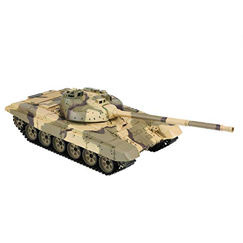 Remote Control Tank, Tank Model Kit Amy Toy Tanks 1/16 Scale T-90 RC Simulation Battle Tank with USB Cable for Kids Children (3938-1) (90 Tank T)