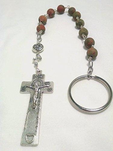 Irish Penal Rosary with Unakite gemstone beads