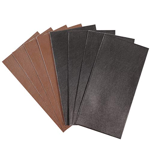 8Pcs Leather Repair Patches, Leather Repair Kit First-aid Adhesive for Couch Furniture Sofas Car Seats, Handbags Jackets