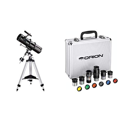 Orion 09007 SpaceProbe 130ST Equatorial Reflector Telescope (Black) Bundle with Orion 08890 1.25-Inch Premium Telescope Accessory Kit (Silver)