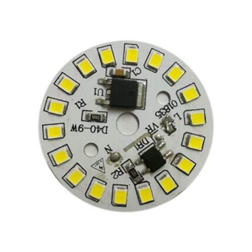Satguru LED Lamp Bulb 9W 220V Input Chip Smart IC Fit No Driver Needed High Lumens Beads (Blue, White, 10)